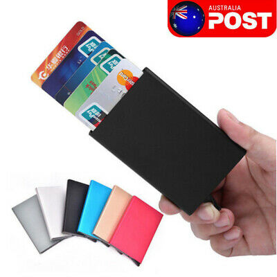 ID Credit Card Holder RFID Protector Business Wallet Card Case For Men Women
