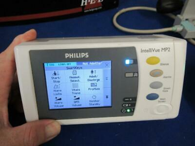 Philips Intellivue MP2 Patient Monitor With Dock Mount And Charger.