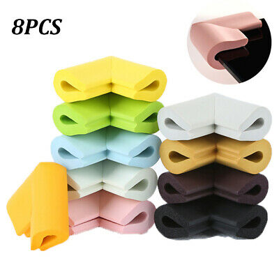 8 x BABY SAFETY CORNER CUSHIONS - DESK TABLE COVER PROTECTOR - SAFE FOR CHILD