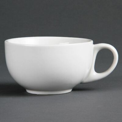 Olympia Whiteware Cappuccino Cups - Porcelain - Pack Quantity 12 - 284ml 10oz