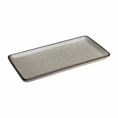 "Olympia Mineral Rectangular Plate Porcelain 335mm 335(W) x 160(D)mm / 13"" x 6"""