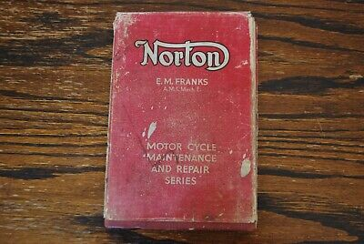 Norton Motor Cycles By E.M. FRANKS. All Models From 1932 Covers W/ID 16H