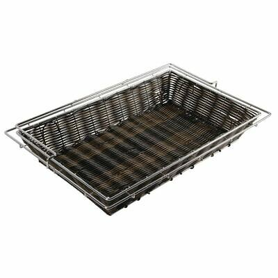 APS Frames Polyratten Basket in Dark Brown with Frame 80x365x575mm