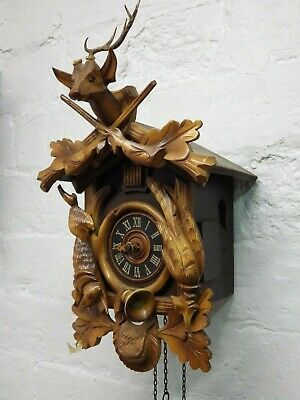 Vintage Cuckoo Clock Made In Germany For Spares Or Repairs