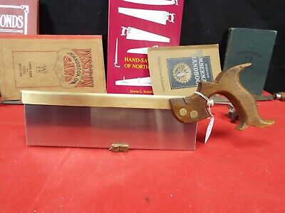 "Clifton & Co. 10"" Tenon/Dovetail Saw, 14 PPI Rip Cut, Brass Back, New Plate 1219"