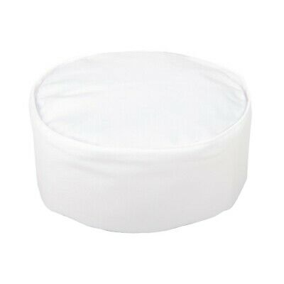 "Whites Chefs Skull Cap White 25in Size: 25"". Colour: White"
