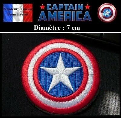 Écusson Brodé Thermocollant NEUF ( Patch Embroidered ) - Captain America