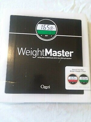 Ozeri WeightMaster (440 lbs / 200 kg) Bath Scale with BMI, BMR and 50 Gram Weigh