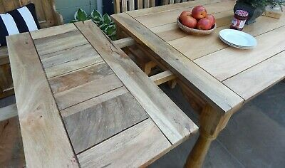 Large Rustic Extending 8.5ft Farmhouse Kitchen Dining Table DELIVERY AVAILABLE