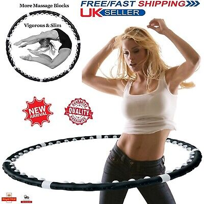 Weighted Collapsible HULA HOOP Fitness Padded ABS Exercise Massager GYM WORKOUT