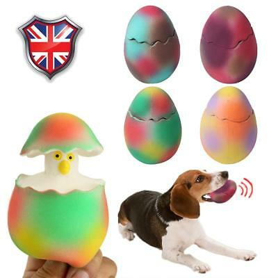 Pet Dog Puppy Dinosaur Egg Chew Toy Squeaker Squeaky Play Sound Aggressive Chew