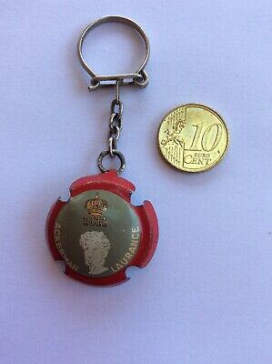 Porte Clefs Ackerman Laurance 1811  Muselet Capsule Rouge-no Champagne-Keychain