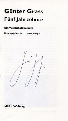 Günter Grass autograph author Nobel Prize LIT 1999, signed book