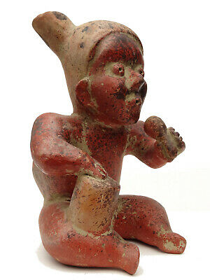 Large Pre-Columbian Figure Hispanic Mexico Clay Pottery Mesoamerica Statue Mayan