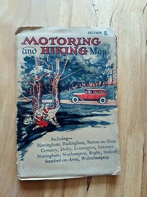 Road And Hiking Map 1930s sec E