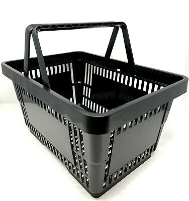Shopping Basket Black 2 Handles 20Litre - 5 qty pack