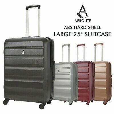 """Aerolite 26"""" 4 Wheel ABS Hard Shell Check In Hold Luggage Suitcase Bag"""