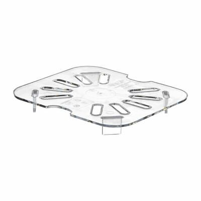 Cambro Gastronorm GN Pan Polycarbonate Food Storage Container 1/6 Drain Shelf