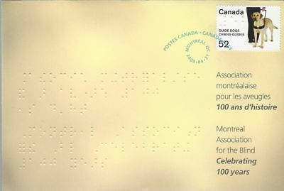 2008 S77 Montreal Assoc For The Blind 100'th Anniversary Special Event cover