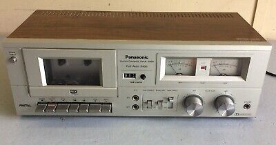 Vintage Metal Panasonic RS-608D Stereo Cassette Tape Player Deck