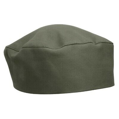 Whites Chefs Apparel Polycotton Skull Cap Olive Hat Uniform Headwear One Size
