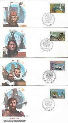 1986 #1104-7 Exploration of Canada set of 4 FDC with Fleetwood cachet