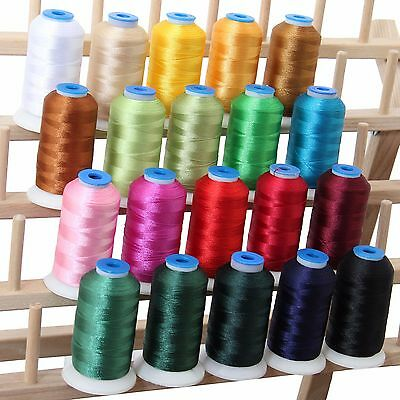 Polyester Machine Embroidery Thread Set 20 Holiday Colors - 1000M Cones - 40Wt