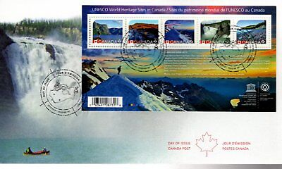 2014 #2718 UNESCO World Heritage Sites In Canada S/S FDC with CP cachet