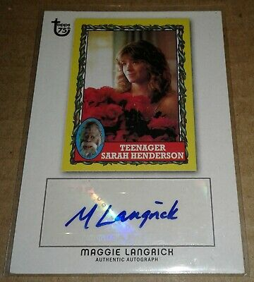 2013 Topps 75th Anniversary autograph Maggie Langrick HARRY AND THE HENDERSONS