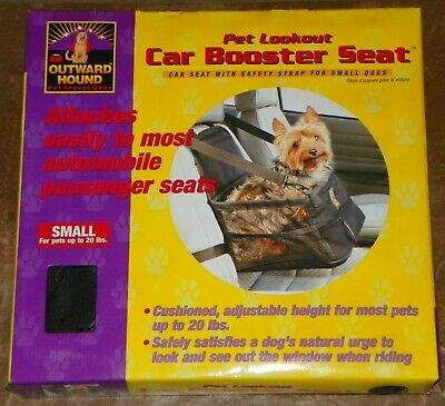 NEW OUTWARD HOUND Pet Lookout Dog CAR BOOSTER SEAT Size Small Up To 20 Lbs