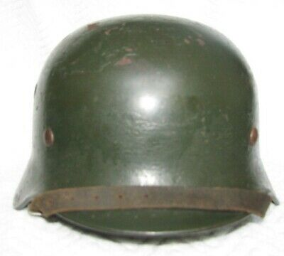 ALL ORIGINAL GERMAN Wwii M42 Sand Camo Helmet Size 64 (For Sale In