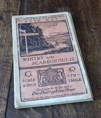 Ministry Of Transport Road Map Whitby And Scarborough 1926