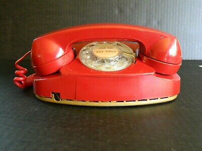 Vintage Bell System Red Princess Dial Telephone 702Bm