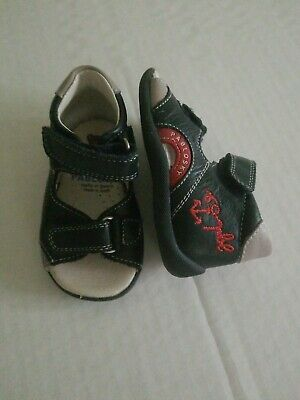 Baby Boys PABLOSKY Leather Sandals Size 18 UK 2 US 3 Made in Spain