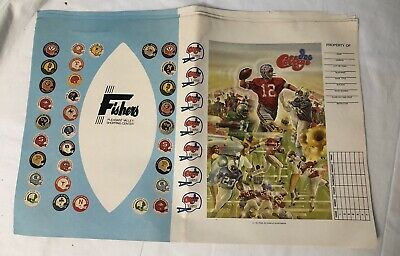 6 Vintage 1970s School Book Covers UNUSED Textbook Covers Football College Teams
