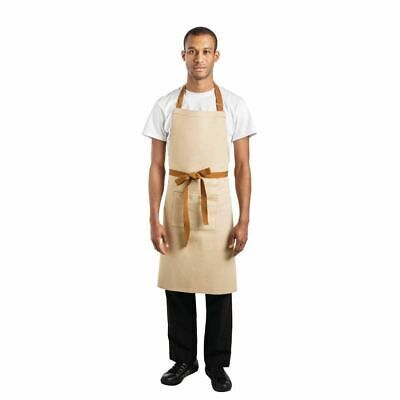 Whites Chefs Apparel Bib Apron Khaki - 700 x 1000mm
