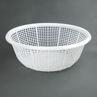 Vogue Round Colander Polyethelene White - 380mm