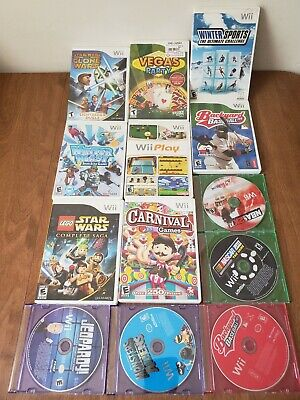 Lot Of 13 Nintendo Wii Video Games (7 Complete , 6 Disc Only) All Tested & Work