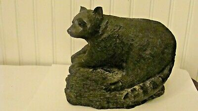 WE A Wolf Original Sculptures Large Racoon Figurine Hand Made in Canada 4.3pound
