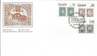 1978 #754-6 CAPEX'78 Combination FDC with CP cachet