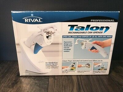 Rival Professional Talon Rechargeable Can Opener CN1000 Handheld or Counter Top