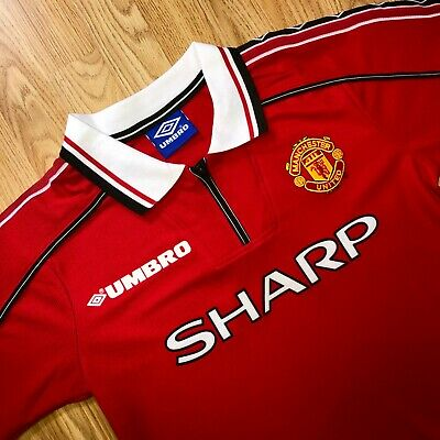 S-Xl 1998/99 Manchester United Home Shirt Custom Printing Available