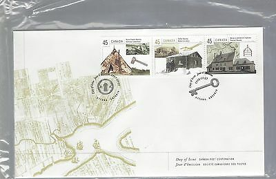 1998 #1755a-i Housing set of 3 FDC with Canada Post cachet