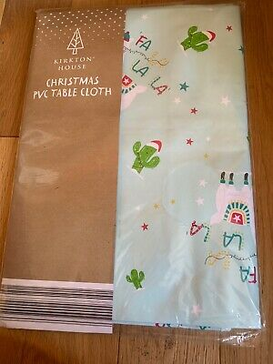 BNWT Llama PVC Christmas table cloth