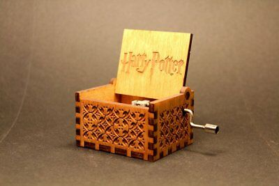 Harry Potter Hand Engraved Wooden Music Box Theme Song Hp Fan Gift Usa Seller