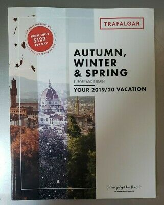 EUROPE And BRITAIN 2019 & 2020 Trafalger Vacation Brochure NEW 87 pages