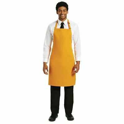 Le Chef Polycotton Bib Apron Chef Apparel Kitchen Cooking Protection Orange