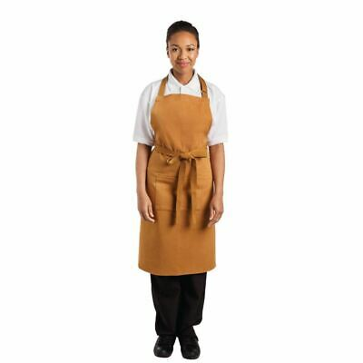 Whites Chefs Apparel Bib Apron Tan - 700 x 1000mm
