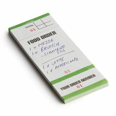 Bar Food Order Pad With Order Tickets 50 Pages Single Leaf Waiter Book X50