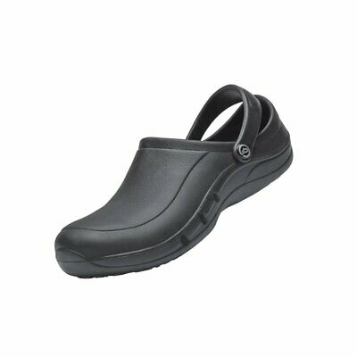 Toffeln EziProtekta Klog E-tech Safety Shoes Catering Kitchen Unisex Black 44.5